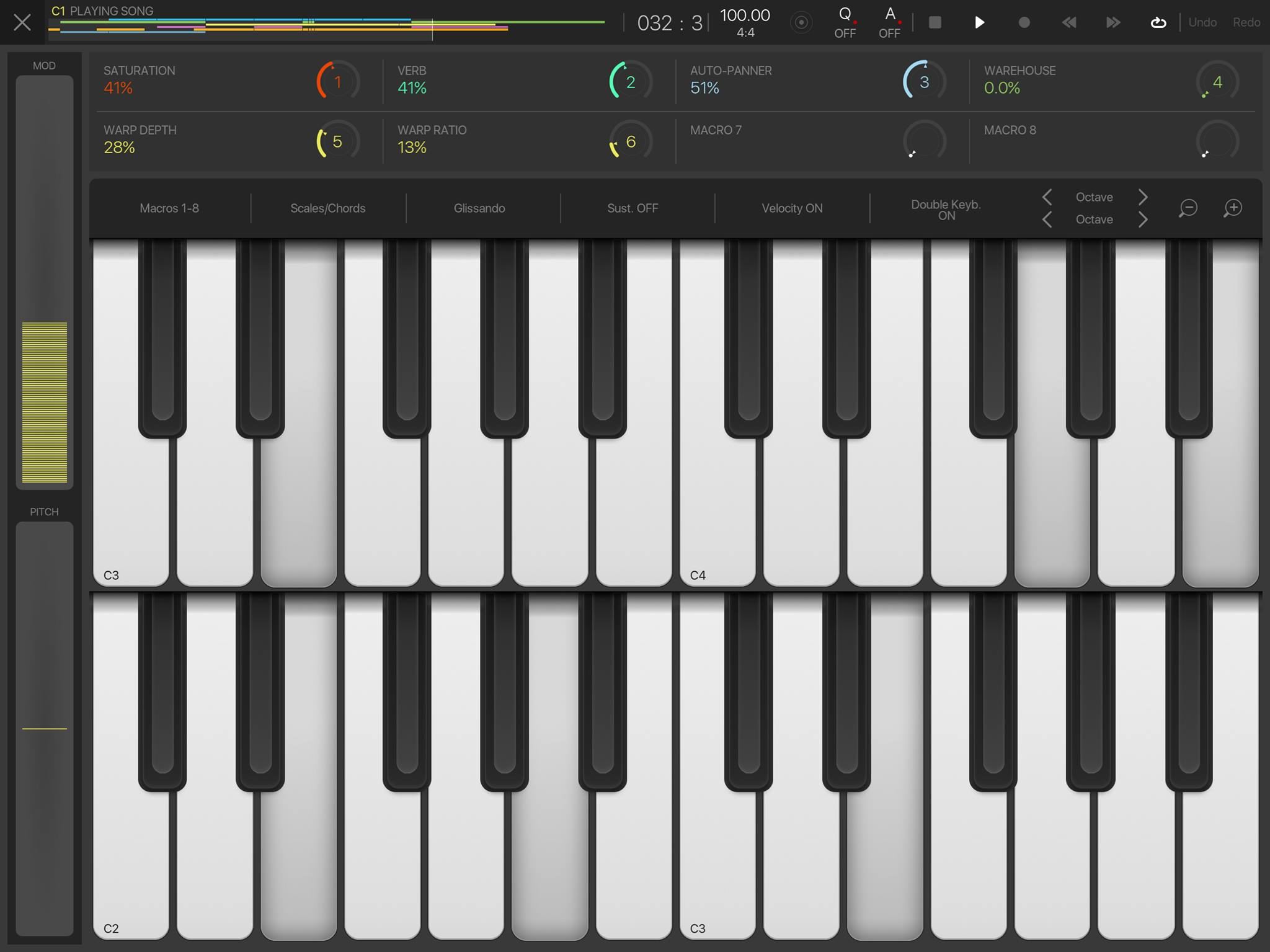 BeatMaker 3 Double Keyboard